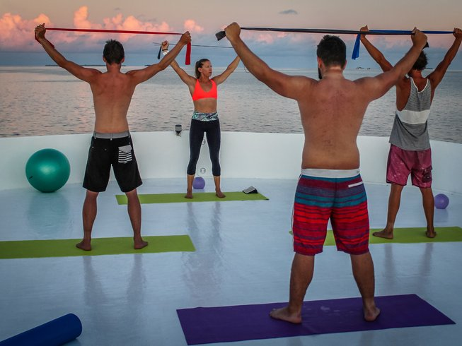 7 Days Yoga and Surf Charter in Maldives