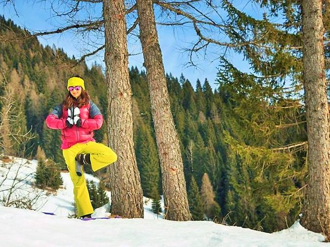 8 Days Yoga and Ski Retreat in the Dolomites, Italy
