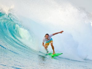 4 Dagen Surfen en Genieten van een Echte Levenservaring in het Prachtige Water van Huraa Island