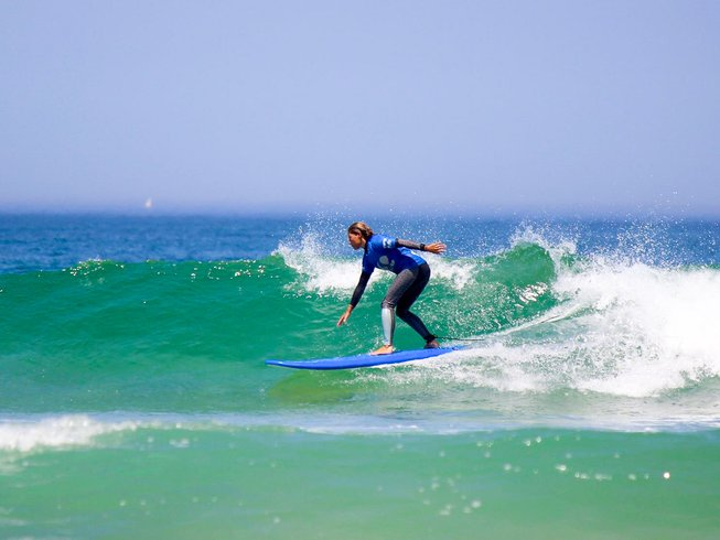 8 Days Girls Only Yoga and Intermediate Surf Camp in Sargacal, Lagos, Portugal