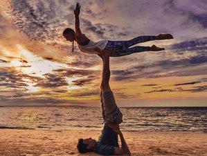 35 Day 500-Hour Vinyasa & Aerial Yoga TT in Koh Phangan, Thailand (plus Detox, Sauna & Beachfront)