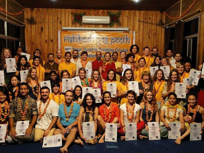 84 Days 500-hour YTT in Rishikesh Yog Peeth, India
