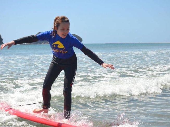 4 Days Surf Camp in Whangamata, North Island, New Zealand