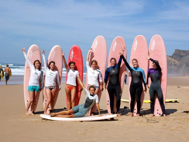 7 Days Women's Surf Camp and Yoga Retreat in Vila do Bispo, Portugal
