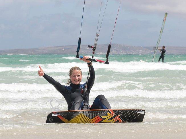 4 Days Beginner Kitesurfing Holidays in Langebaan, Western Cape, South Africa