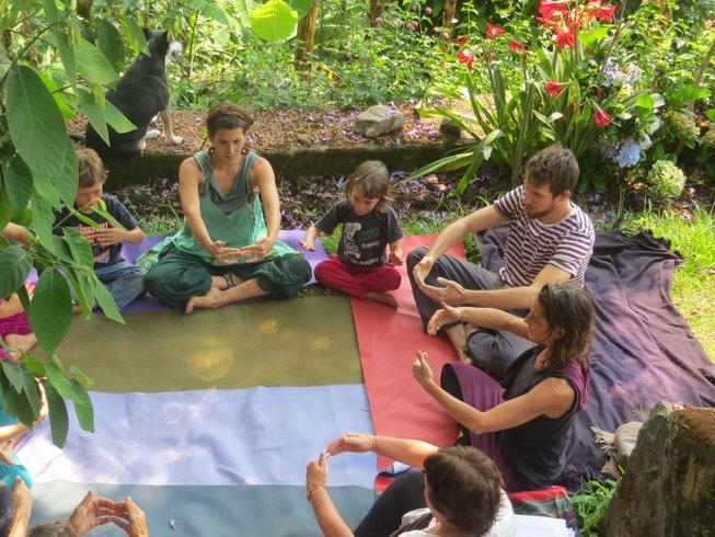 3 jours de stage de yoga en famille à Pondichéry, Inde