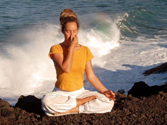 8 Tage Intensives Yoga Retreat für 2 Personen mit Mantrasingen und Rohkost auf La Palma