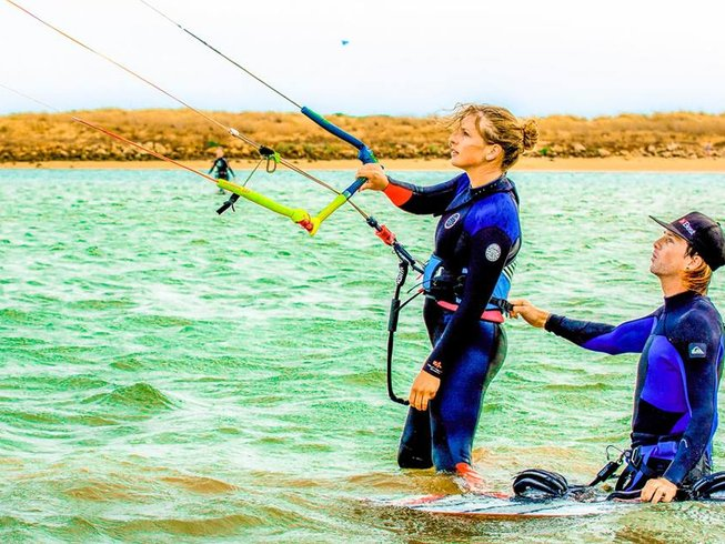 8 Days Yoga, Kitesurfing, and SUP Camp in Sargacal, Lagos, Portugal