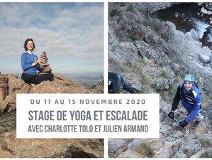 5 jours en stage de yoga et escalade dans magnifique domaine écologique à Vesseaux,  Ardèche