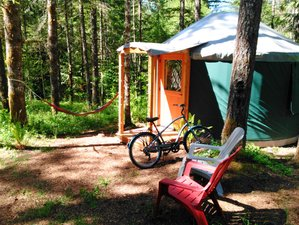 2 Days Glamping and E-Bike Cycling Holiday in Oregon, USA