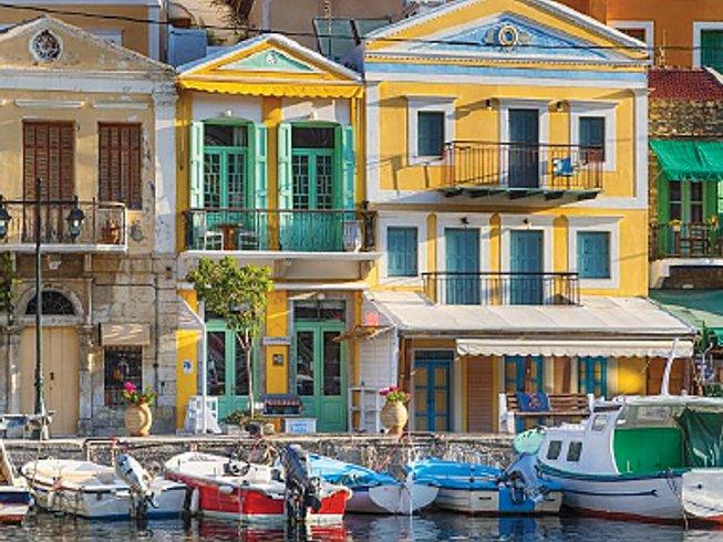 8 días de retiro de yoga en Symi, Grecia