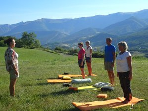 5 jours en vacances de yoga vinyasa et randonnées au château des pauses, Cévennes sud