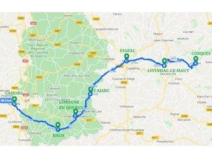 7 jours en séjour itinérant de yoga et marche sur les chemins de Compostelle, Aveyron