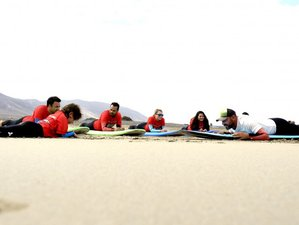 8 Days Beginner's Yoga and Surf Holiday in Caleta de Famara, Lanzarote, Spain