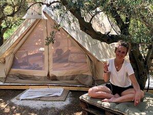 8-Daagse ´Glamping´ (=Glamorous Camping) Yoga Vakantie aan Zee bij Poros, Griekenland
