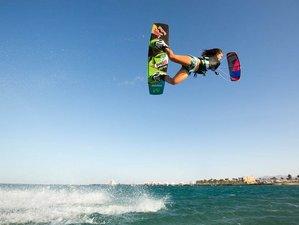 8 Days Basic Kitesurf Group Course with Yoga Camp in Sardinia, Italy