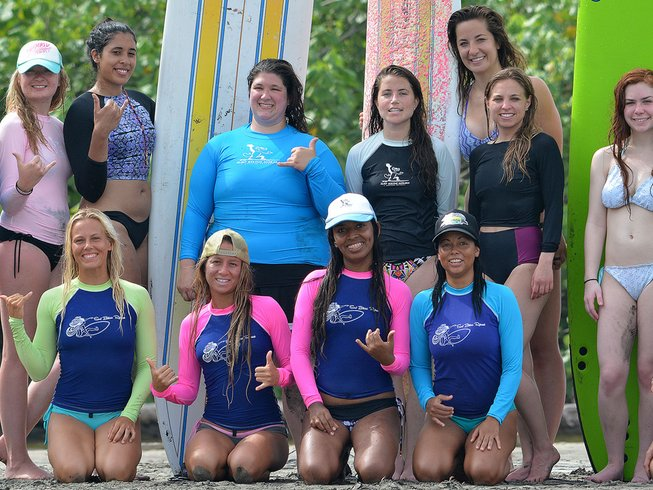 7 Days Girls Surf and Yoga Retreat in Costa Rica