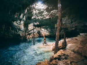 5 Day Yoga Retreat in Tulum Caribbean beach discovering the Magical Sacred Mayan Cenotes