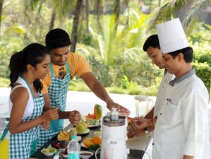 8 Days Ayurveda Nutrition and Cooking Course in Goa, India with Daily Yoga Practice