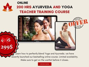 200-Hour Online (Live + Self-Paced) Yoga and Ayurveda Teacher Training Course