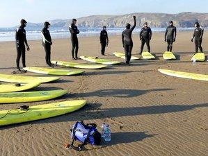 6 Tage Aktiver Urlaub für Erwachsene mit Kajafahren und Surfen in Pembrokeshire, Wales