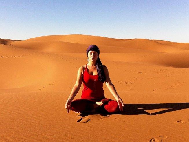 8 jours en stage de yoga à M'Hamid, dans le désert marocain