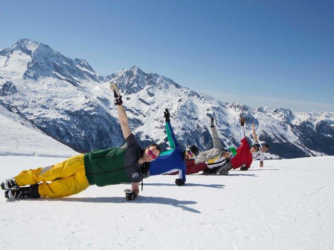 8 Tage Yoga, Snowboarden und Ski Urlaub Frankreich