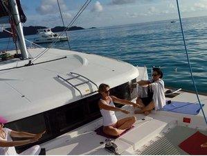 8 Day Yoga and Sailing Holistic Experience on Catamaran Cruise in Aegadian Islands