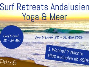 8 Days Surf and Soul with Full Energy Yoga Retreat in Andalusia, Spain