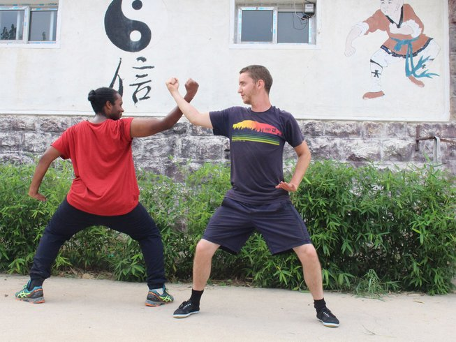 7 Months Traditional Kungfu training with Meihua Poles in China