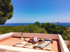 4 Day Blue Sky Private Weekend Yoga Bed and Breakfast with Sea Views in Ibiza