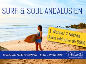 8 Days Surf and Soul in Andalusia Yoga Retreat Full Energy in Andalusia, Spain