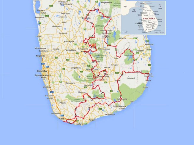13 Days Hidden Sri Lanka Motorbike Tour