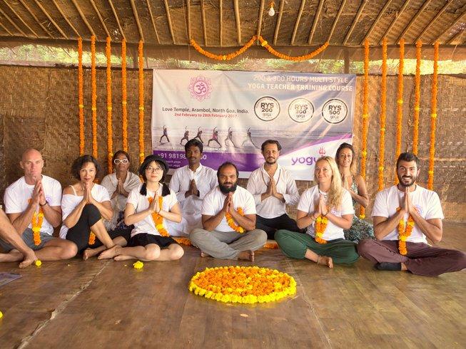 24 jours-200h de formation de professeur de yoga à Goa, Inde