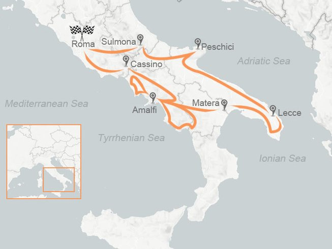 10 Days Classic Amalfi Coast Motorcycle Tour in Southern Italy