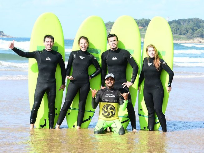 8 Days Intensive Surf Camp in Playa Somo, Cantabria, Spain