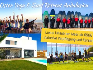 8 Days Exciting and Luxurious Easter Yoga and Surf Holiday in Andalusia, Spain