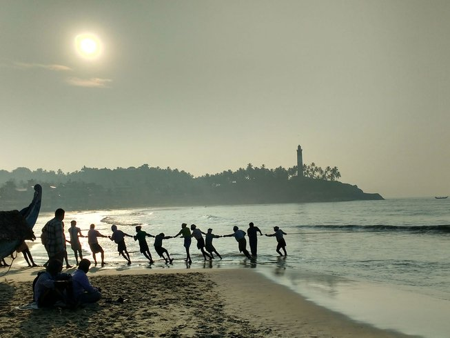 5 Days Beach Surfing and Biking Yoga Holidays in Kerala, India