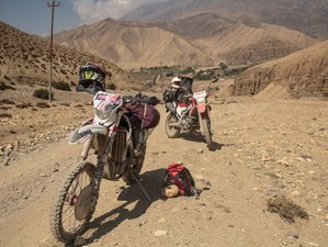 15 Day Total Loop from Kathmandu to Kathmandu Upper Mustang Guided Motorbike Tour in Nepal