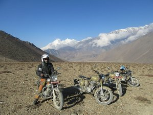 16 Days Thrilling Kathmandu Loop Guided Motorbike Tour through Nepal and Tibet along The Himalayas