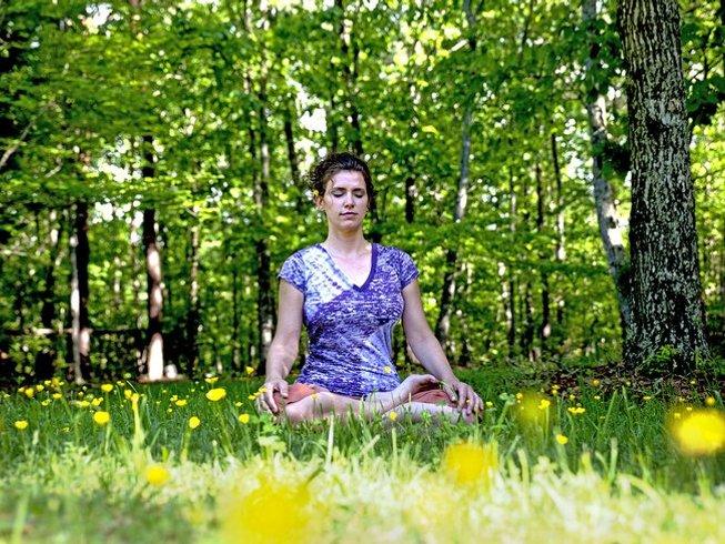 14 días de retiro de yoga y meditación en Rishikesh, India