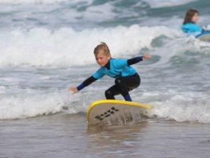 3 Days Family Climb and Surf Camp in Praia da Luz, Portugal