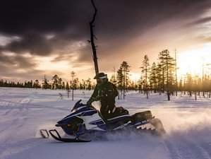 2 Days Guided Small Groups Snowmobile Tour in Lapland, Sweden