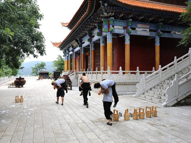 5 Years Songshan Shaolin Kung Fu Training in Mile, China