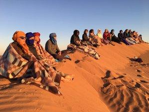 8 jours en vacances itinérantes de yoga, marches conscientes à noël dans le désert marocain