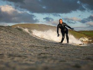 5 Tage Geführtes Surfen und Camping Trip mit Täglichem Yoga in Saunton, Devon