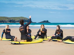2 Day Surfing, Coasteering, and Wild Camping Adventure Holiday in Cornwall