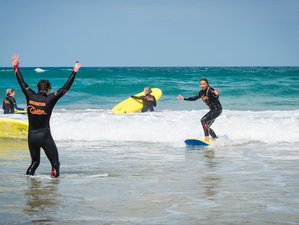 2 Day Surfing Introduction and Overnight Wild Camp in Cornwall, South West England