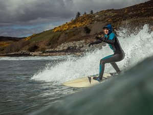 4 Day Beginners' Surf Camp Adventure Weekend with Beach-View Yoga in Sutherland, North of Scotland