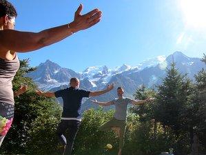 8 jours en vacances de luxe de yoga, randonnées et spa à Chamonix, Haute-Savoie